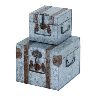 Galvanized 2-piece Metal Box Set