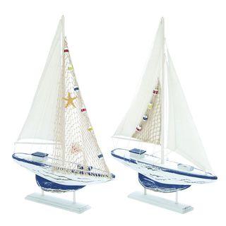 Aquatic 2-piece Wooden Sailboat Set