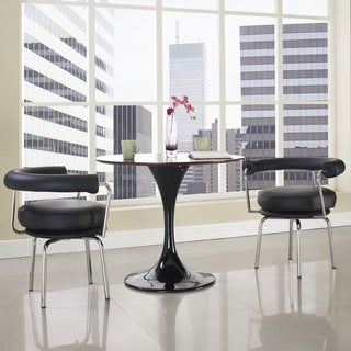Saloon Polished Stainless Steel/ Black Dining Armchair