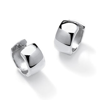 PalmBeach Huggie-Hoop Earrings in .925 Sterling Silver Tailored