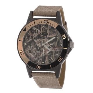 Mossy Oak Beige Band Gun Case Men's Watch