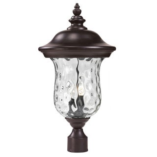 Z-Lite Water Glass Outdoor Post Light