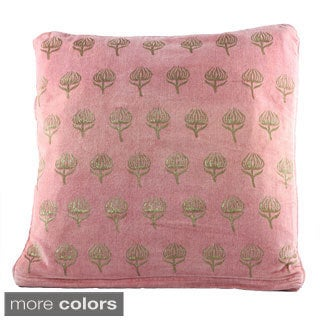 Handblocked Velvet Cushion Covers (India)