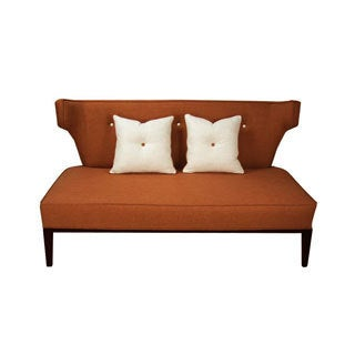 inncdesign Terracotta Loveseat and Throw Pillows Furniture Set