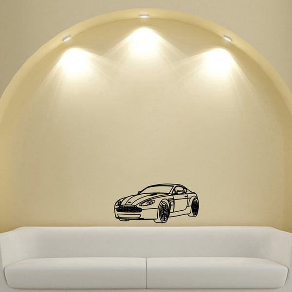 Machine Wheel Lights Design Vinyl Wall Art Decal