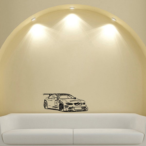 BMW Rally Racing Spoiler Machine Design Vinyl Wall Art Decal