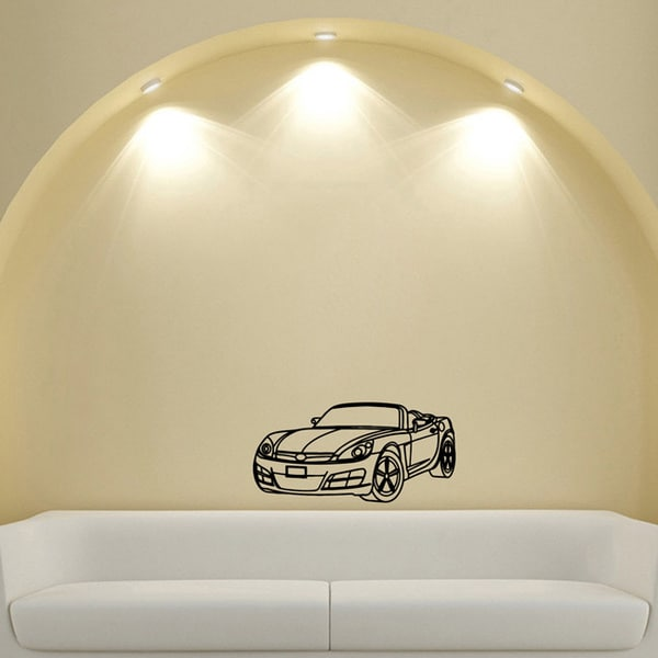 Machine Convertible Transport Design Vinyl Wall Art Decal