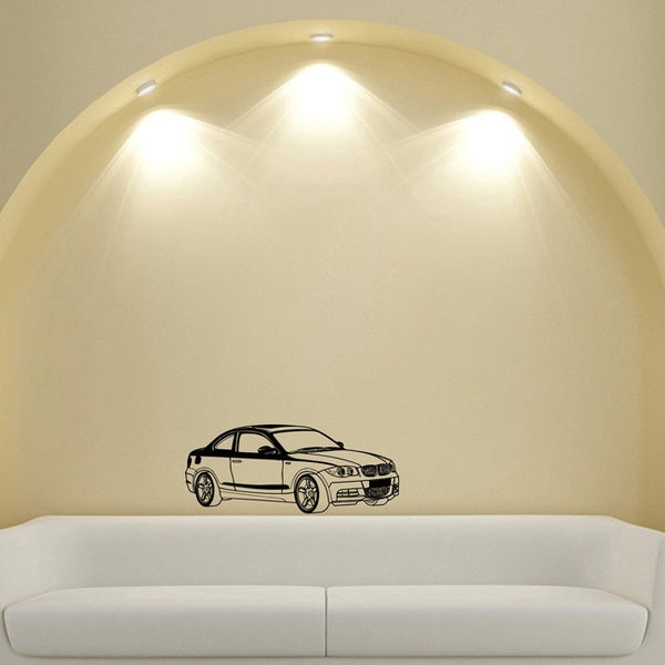 Glossy Black BMW Coupe Vinyl Wall Decal