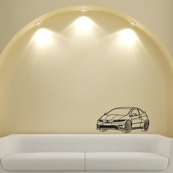 Honda Civic Vinyl Wall Decal