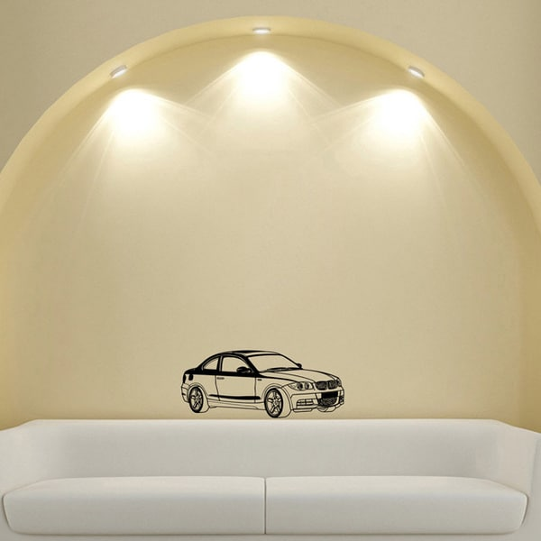 Black BMW Coupe Vinyl Wall Decal