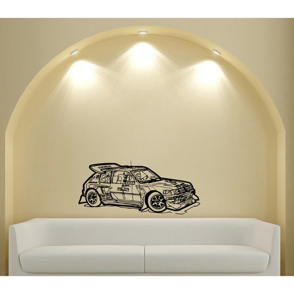 Rally Race Vinyl Wall Decal