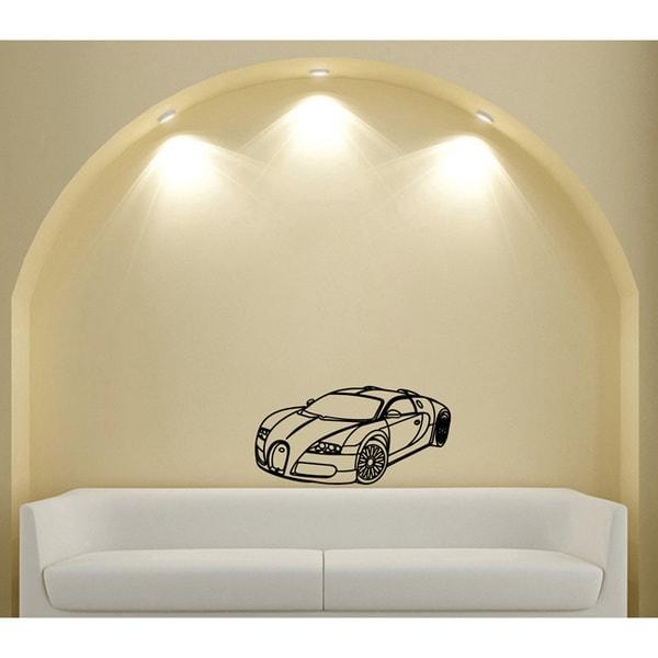 35-inch Wide Bugatti Veyron Vinyl Wall Decal