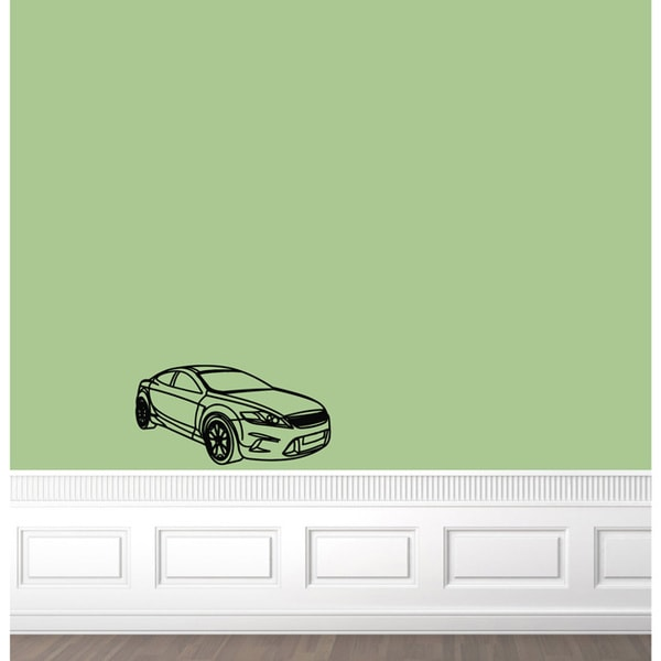 Machine Car Tyre Speed Design Vinyl Wall Art Decal