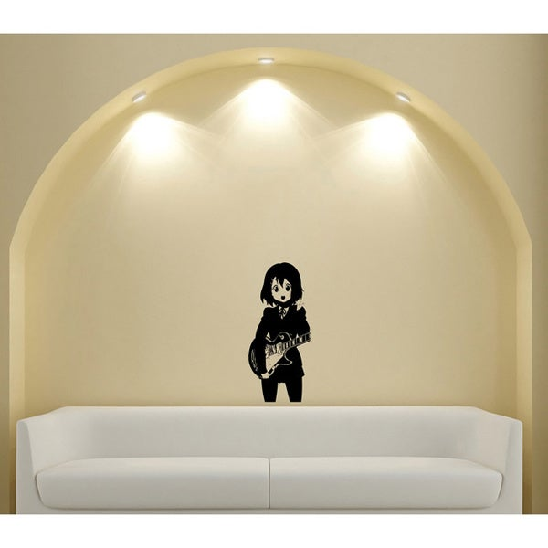Japanese Manga Girl Guitar Music Vinyl Wall Art Decal