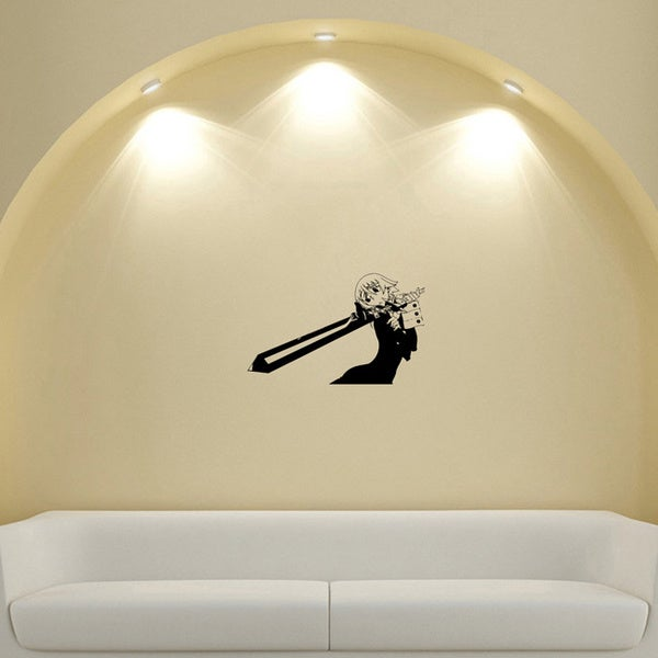 Japanese Manga Girl Saw the Fear Vinyl Wall Art Decal