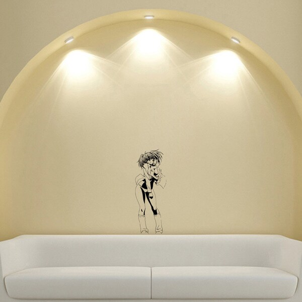 Japanese Manga Girl Swimsuit Shirt Vinyl Wall Art Decal