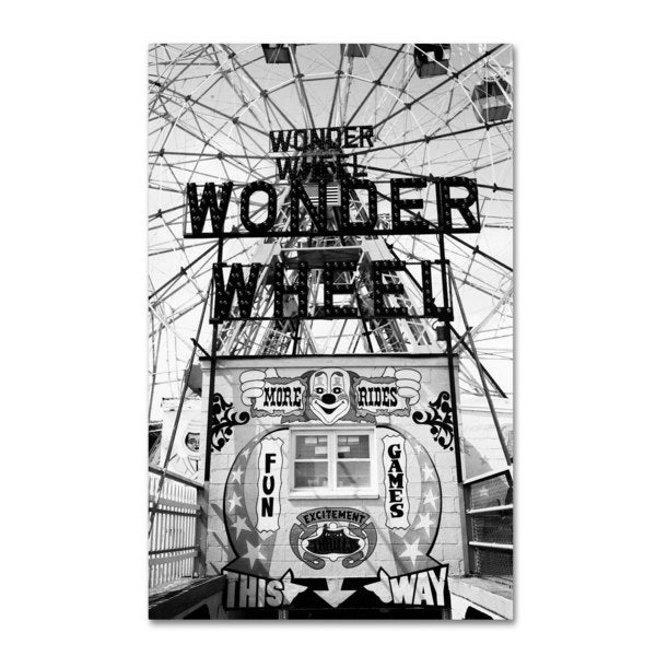 Yale Gurney 'Coney Island Wonder Wheel This Way' Canvas Art