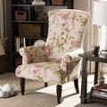Baxton Studio Kimmett Beige/ Pink Linen Floral Accent Chair