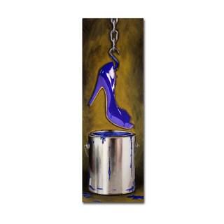 Roderick Stevens 'Paint Can Shoe' Canvas Art