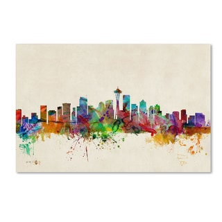 Michael Tompsett 'Seattle, Washington' Canvas Art