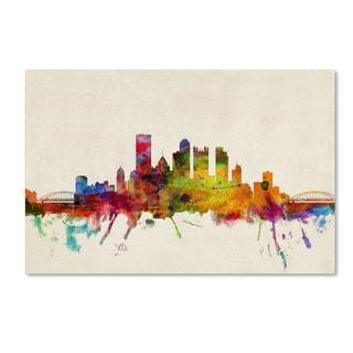 Michael Tompsett 'Pittsburgh, Pennsylvania' Canvas Art