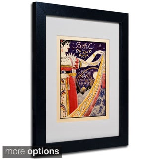 Anonymous 'Bal du Grand Prix' Framed Matted Art