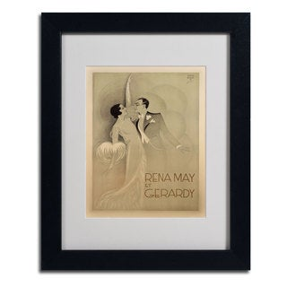 Anonymous 'Rena May Et Gerardy' Framed Matted Art