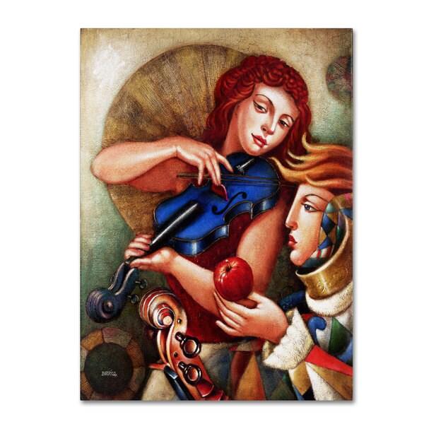 Edgar Barrios 'Seduccion' Canvas Art