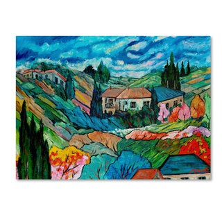 Manor Shadian 'Valley House' Canvas Art