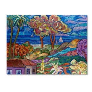Manor Shadian 'House By the Beach' Canvas Art