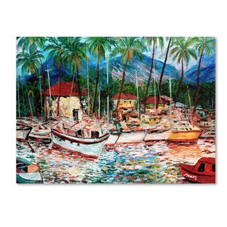 Manor Shadian 'Lahaina Boats' Canvas Art
