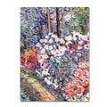 Manor Shadian 'Flowers In the Forest' Canvas Art