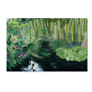 Unknown 'Bamboo Garden' Canvas Art