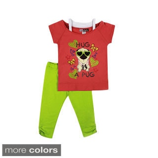 Girls Toddler Hug Pug Two Piece Set