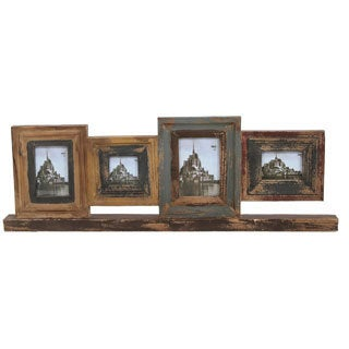 Privilege 4-opening Reclaimed Wood Photo Frame