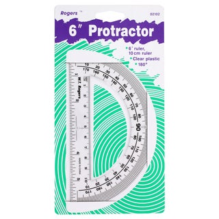 Rogers 6-inch Clear Protractor