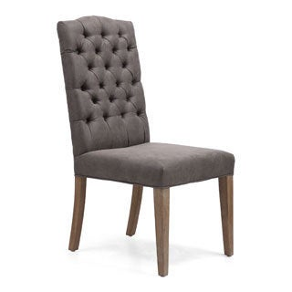 Gough Charcoal Gray Chair (Set of 2)