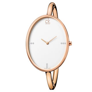 Calvin Klein Women's 'Sartoria' Rose Gold-Tone PVD Coated Stainless Steel Watch