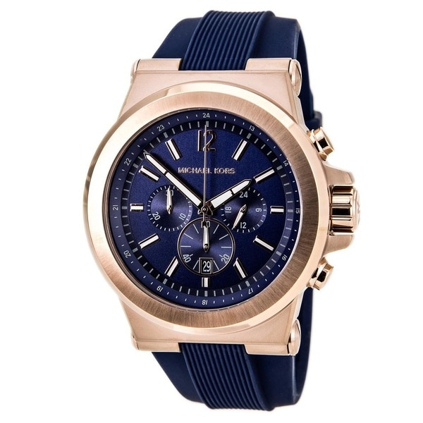 Michael Kors Men's MK8295 'Dylan' Rose Gold Tone Ion Plated Stainless Steel Watch
