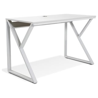 White Writing Desk in Steel by Jesper Office
