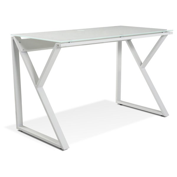 Tribeca White Glass Desk