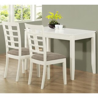 3-piece Pearl White Space Saver Table Set