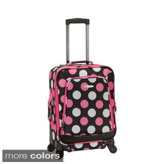 Rockland Deluxe Polka Dot 20-inch Expandable Carry-On Spinner Upright