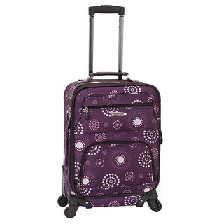 Rockland Deluxe Purple Pearl 20-inch Expandable Carry-On Spinner Upright