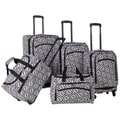 American Flyer Brick Wall Collection 5-Piece Spinner Luggage Set