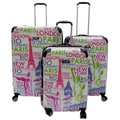 Kemyer World Series 3-Piece Wide Body Hardside Spinner Luggage Set