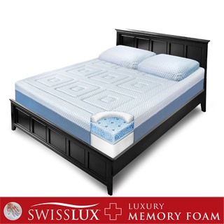 SwissLux Eurotop 12-inch Queen-size Gel Memory Foam Mattress