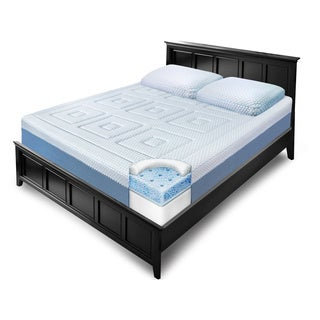 SwissLux Eurotop 12-inch California King-size Gel Memory Foam Mattress