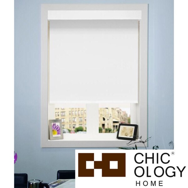 Chicology Mountain Snow Cord Free Roller Shade with Valance