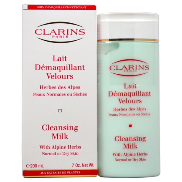 Clarins Cleansing Milk with Alpine Herbs 7-ounce Cleanser
